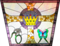 Resurrection of Christ. Stained-glass window at Church of Our Savior MCC, Boynton Beach, FL.png