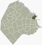 Location of Retiro within Buenos Aires
