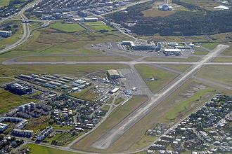 Reykjavík Airport - Image: Reykjavik Airport aerial