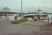 Rheinfähre Michael Oestrich-Winkel Mittelheim Hochwasser 1988.jpg