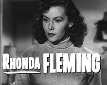 Rhonda Fleming a la pel·lícula Cry Danger (1951).