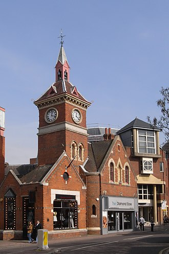 Richmond, London - The town's former fire station, built in the late 19th century, with a distinctive lantern clock tower