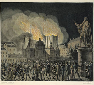Riddarholmschurch fire1835