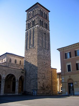 Rieti - Bell tower of St. Mary Cathedral