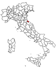 Locator of the province or Rimini (used as exemple). Comparison between the new svg map (left) and the old png one (right). Note the resolution and also the territorial change between Emilia-Romagna and Marche.