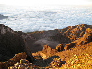 Mount Rinjani - View from the summit of Gunung Rinjani