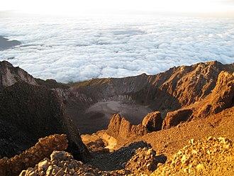 Mount Rinjani - View from the summit of Gunung Rinjani
