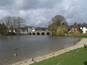 Fordingbridge - The seven-arched bridge over the River Avon