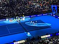 Roger Federer v Novak Djokovic at 2019 ATP Finals (49070130848).jpg