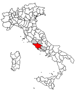 Location of Province of Rome