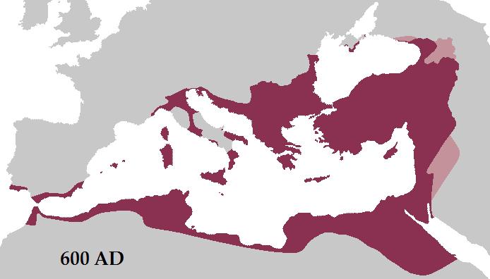 Roman Empire 600 AD