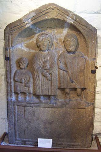 Ilkley Roman Fort - Roman gravestone found in Ilkley