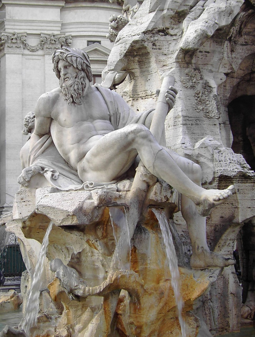 Rome Fontana dei Quattro Fiumi 01