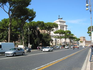 Monti (rione of Rome) - via dei Fori Imperiali, on the edge of the rione