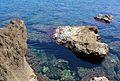 Roques davant la cova Tallada, Xàbia.JPG