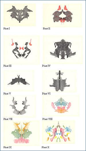 English: The ten original Rorschach inkblot te...