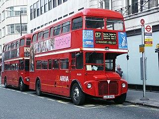 British double-decker bus