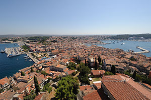 Rovinj - Rovinj/Rovigno, seen from Campanile of Saint Euphemia Church