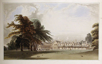 Royal Lodge - The Royal Lodge in 1827, before much of it was demolished