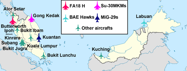 airbases of the royal malaysian air force
