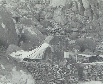 North Yemen Civil War - The camp used by royalist forces at Hanjar, in north-eastern Yemen