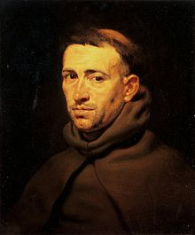 Andres de Soto died 5 April Rubens, Pieter Paul - Head of a Franciscan Monk.jpg