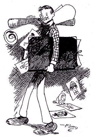 Rudolph Dirks - Rudolph Dirks' self-portrait