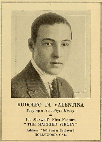 Rudolph Valentino - Valentino in an advertisement for The Married Virgin, in which he plays a villainous role