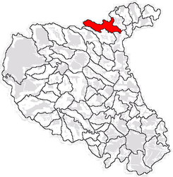 Location in Vrancea County