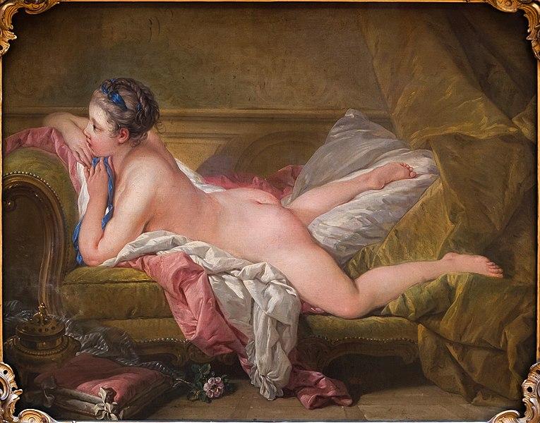 François Boucher, The Portrait of Louise O'Murphy, 1752, Alte Pinakothek, Munich, Germany.