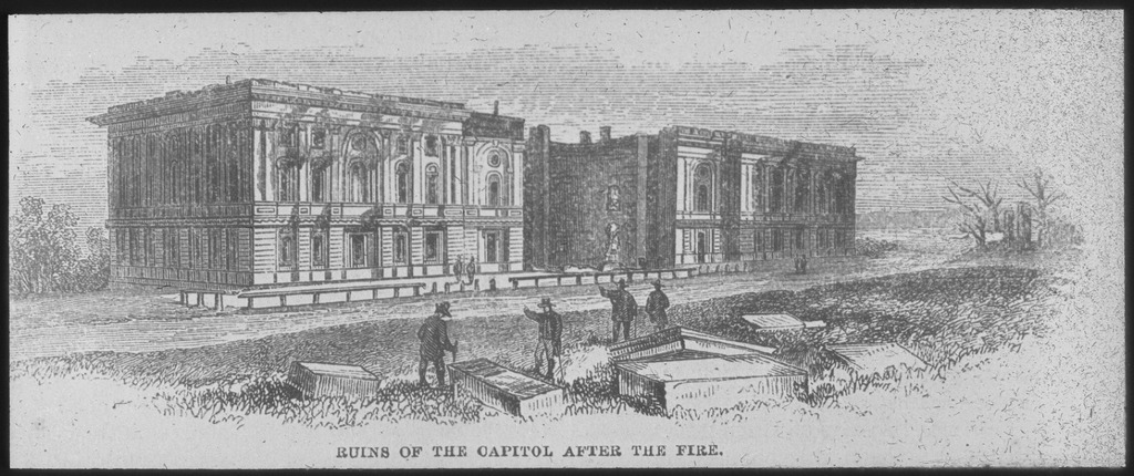 File ruins of the capitol after the fire 1814 copy of print ca
