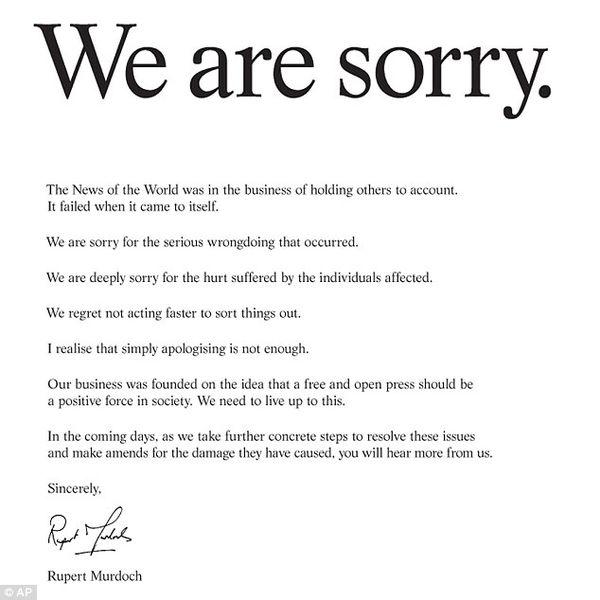 Apology Letter For Resignation