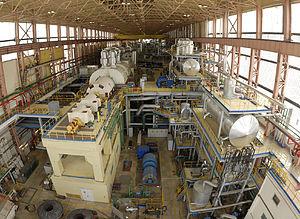 Kola Nuclear Power Plant - Turbine Hall at the Kola Nuclear Power Plant