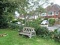 Rustic seat in Grayshott Churchyard - geograph.org.uk - 931142.jpg
