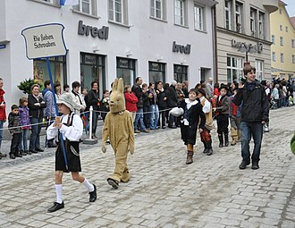 The Seven Swabians - Rutenfest in Ravensburg, Baden-Württemberg, Germany, celebrating the story.