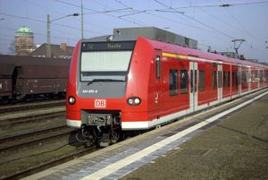 Hanover S-Bahn - Class 424 electric multiple unit in Nienburg station