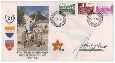 SADF State President 's Unit Commemorative Letter