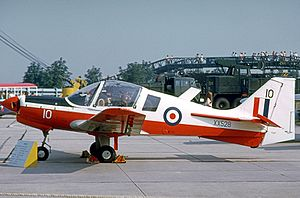 No. 2 Flying Training School RAF - Scottish Aviation Bulldog of No.2 FTS RNEFTS displayed at RNAS Yeovilton in 1973