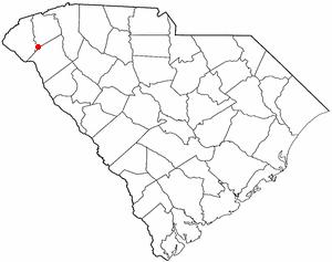 Clemson Experimental Forest - Image: SC Map doton Clemson