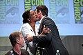 SDCC 2015 - Aisha Tyler & Hugh Jackman (19701502382).jpg