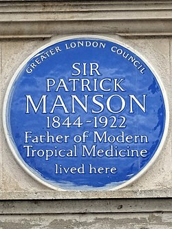 Sir patrick manson 1844 1922 father of modern tropical medicine lived here