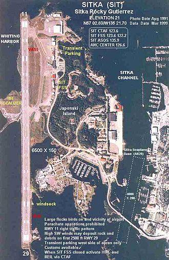 Sitka Rocky Gutierrez Airport - Image: SIT b
