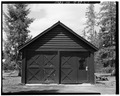 SOUTH FRONT - Buffalo Guard Station, Garage, U.S. Highway 20-191 at Buffalo River, Island Park, Fremont County, ID HABS ID,22-ILPA,2C-1.tif