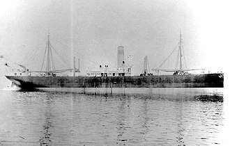SS Ohioan (1914) - SS Ohioan as she appeared before her U.S. Navy service in World War I