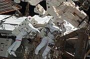 STS-130 EVA1 Robert Behnken and Nicholas Patrick 1