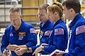 STS-135 astronauts during the Crew Equipment Interface Test.jpg