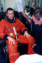 STS-81 Baker suits up
