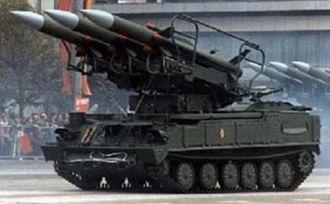 Tikhomirov Scientific Research Institute of Instrument Design - TEL of the 2P25 Kub with missiles erected
