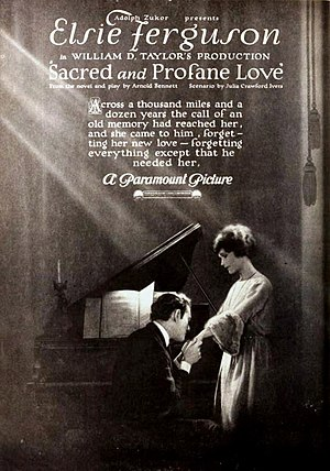 Sacred and Profane Love (film) - surviving window poster with Nagel and Ferguson