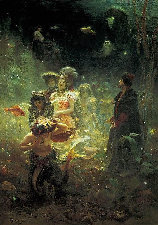 Sadko dans le royaume subaquatique (1876). Oeuvre de Ilya Repin.